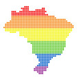 spectrum dotted lgbt brazil map vector image