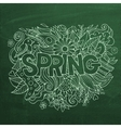 Spring hand lettering and doodles elements vector image vector image