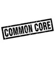 square grunge black common core stamp vector image vector image