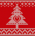 traditional fair knitted pattern christmas vector image