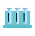 tubes tests isolated icons vector image vector image