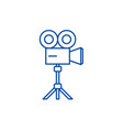 video shooting line icon concept video shooting vector image vector image