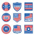 vintage made in the usa badges american vector image vector image