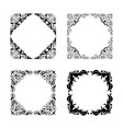 vintage style square frames collection vector image vector image