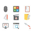 web design icons pack vector image