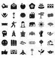 yoga studio icons set simple style vector image vector image