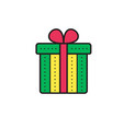 gift box isolated present greeting surprise vector image