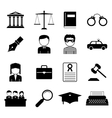 Law and Justice icon vector image