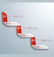 Next step arrow boxes vector image