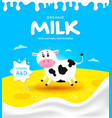 packaging milk product vector image