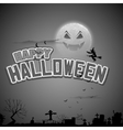 Witch flying in Happy Halloween Background vector image