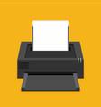 flat printer icon vector image