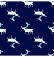 Seamless pattern Ice deer vector image