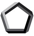 3d pentagon vector image