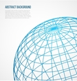 Abstract globe sphere from blue lines on white vector image vector image