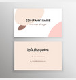 abstract modern business card modern background vector image