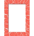 Abstract red frame with scribbles vector image