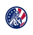american cameraman usa flag icon vector image vector image