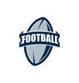 american football logo template college logos vector image vector image