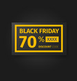 black friday 70 percent discount coupon vector image