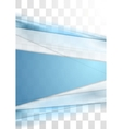 Blue tech stripes blurred corporate transparent vector image