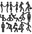 Bodily movement cartoon vector image vector image