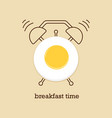 breakfast time with eggs vector image vector image