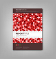 Brochures book with red triangles template vector image