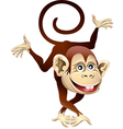 Cheerful monkey vector image vector image