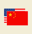 china and usa flags set vector image vector image