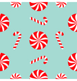Christmas Candy Cane Round white and red sweet set vector image vector image