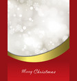 christmas festive background with bokeh vector image