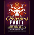 christmas invitation holiday new year party vector image vector image
