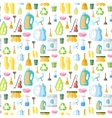 Cleaning icon seamless pattern vector image vector image