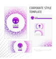 Corporate style template point vector image vector image
