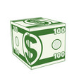 cube dollar vector image vector image