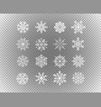different snowflakes isolated on transparent vector image vector image