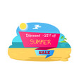 discount summer sale 25 off poster tropical beach vector image