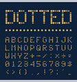dotted font alphabet retro or pop style vector image