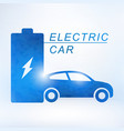 electric car and electrical charging station vector image vector image