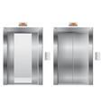 elevator open and closed metal doors vector image