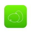 farm eggs icon green vector image vector image