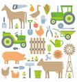 Farm pattern vector image vector image
