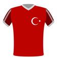 flag t-shirt of turkey vector image vector image