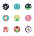 flat icons set of christmas vector image