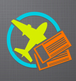 flight icon vector image vector image