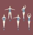 girl dancer shows the five basic ballet positions vector image