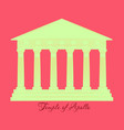 greece temple of apollo outline flat icon vector image vector image
