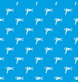 hairdryer pattern seamless blue vector image vector image