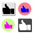 hand thumb up flat icon vector image